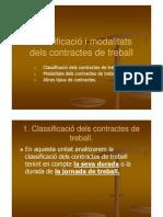 Classificació imodalitats dels contractes de treball Carme Lorenzo