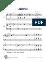 alouette piano  duet