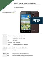 Huawei Honor U8860 Harga Spesifikasi Gambar