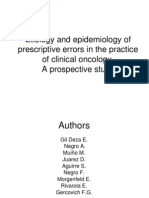 Etiology and epidemiology of prescriptive errors in oncology