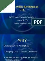 Lead the Online Revolution in CTE