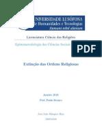Extinção das Ordens Religiosas