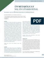 Evaluación metabólica y nutricional en litiasis renal