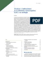 Técnicas e indicaciones de la litotricia extracorpórea (LEC) en urología