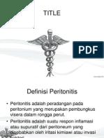 Definsi, Etiologi Peritonitis