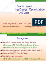 Intro. to Optimal Design and Problem Formulation.