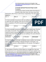 Temenos Group Sample Aptitude Placement Paper Level1