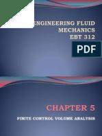 Fluid Mechanics 2010-2011 Finite Control Volume
