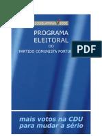 Programa Eleitoral Pcp