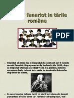 Secolul fanariot in Tarile Romane
