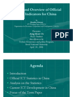 Status and Overview of Official ICT Indicators of China
