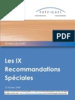 IX Recommandations Spéciales rc