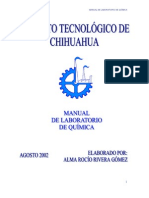 Manual de Laboratorio de Química (Instituto Tecnológico de C