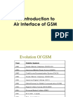 AIR interface info of GSM