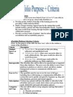 Jamin's ePortfolio Criteria Feb 09