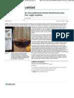 El Consumo Moderado de Vino Puede Tener Efectos Beneficiosos Para Evitar El Deterioro Cognitivo