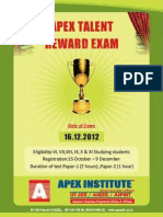 APEX ENTRANCE EXAM TEST PAPER