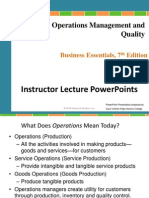 Chapter 7 Operations Management and Quality