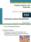 Chapter 8 Employee Behavior and Motivation