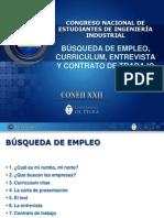 Busqueda de Empleo, Curriculum, Entrevista y Contrato