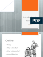INTRODUCTION TO ROBOTICS) ppt | Robot | Technology