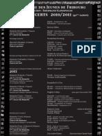 programme 2010-2011