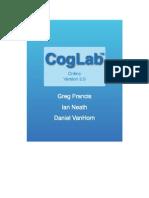 CogLab Student Manual