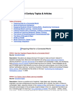 21st Century Topics & Articles