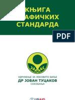 """Knjiga grafičkih standarda udruženja """"Dr Jovan Tucakov"""" Soko Banja, Srbia"""