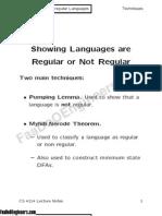 10)Regular and Nonregular Languages