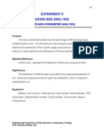 Grain Size analysis of Soil