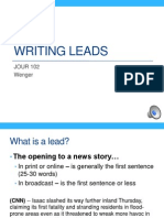 JOUR 102 Writing Leads