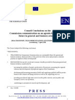 GA Council Conclusions