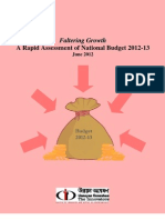 Bangladesh National Budget (FY) 2012-13