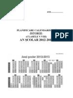 0 2 Planificare Istorie Clasele Vviii