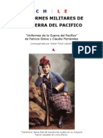 Guerra del Pacifico, Uniformes Militares Chilenos