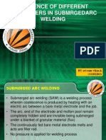 PARAMETERS IN SUBMRGED ARC WELDING