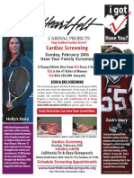 California Tri & Choy Chiropractic cardiac screening -- Sun. Feb. 24th -- Pasadena!