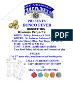 Kiwanis Bunco Fever