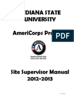 AmeriCorps Program Site Supervisor Manual 2012-2013