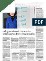 Heraldo de Aragón entrevista a María Angeles Alcutén, Gerente del Salud (03/02/2013)