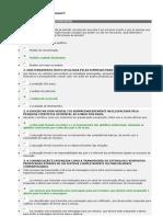 Prova5 - Comportamento Organizacional