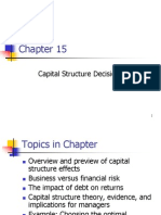 ch. 15 capital structure