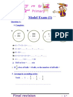 sheet math primary 2