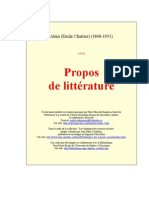 Alain Propos Litterature