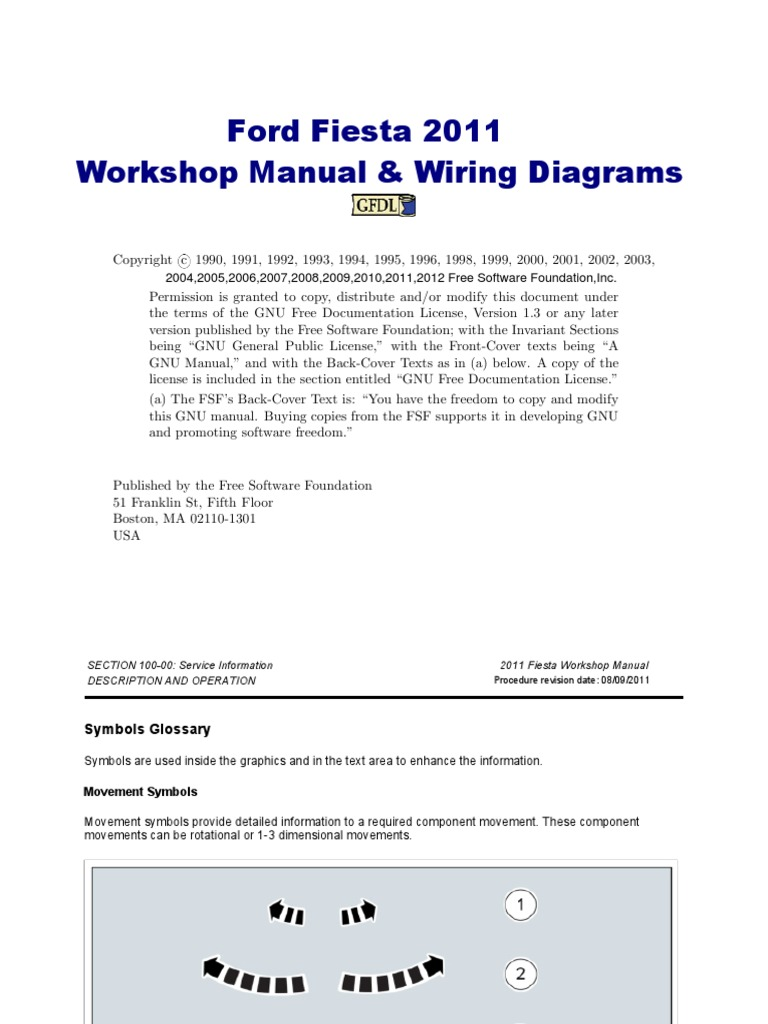 ford fiesta workshop manual 2011