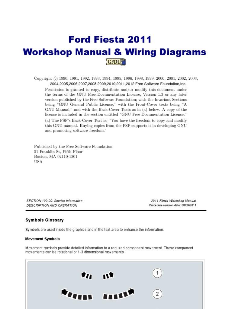 ford fiesta workshop manual 2011 rh es scribd com