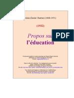 Propos Sur Education