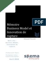 Business Model et Innovation de rupture