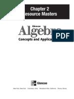 Glencoe Algebra, chapter 2